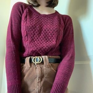 comfy and cozy purple sweater
